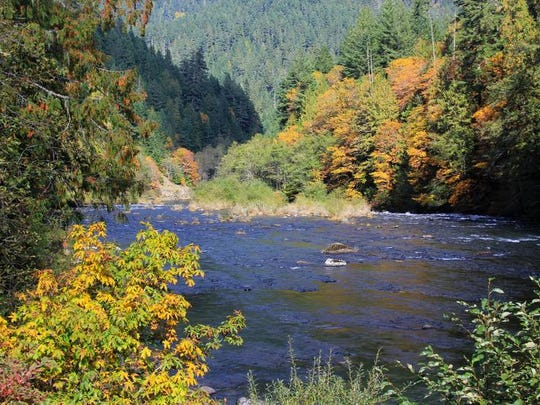 The proposed Cascading Rivers Scenic Bikeway highlights views of the Clackamas River, seen here with autumn colors on the picture taken Oct. 10, 2013.