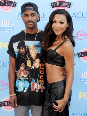 In happier times: Recording artist Big Sean and actress Naya Rivera arrive at the 2013 Teen Choice Awards at Gibson Amphitheatre on August 11, 2013 in Universal City, Calif.