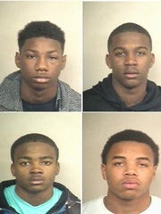 Right to left: Quindarius Love, Malcolm Henderson, Marlon Perry, Dontario Rosell
