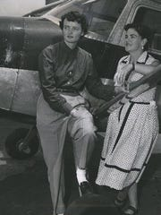 Bernice Steadman, left, with Lois Wilson. Steadman