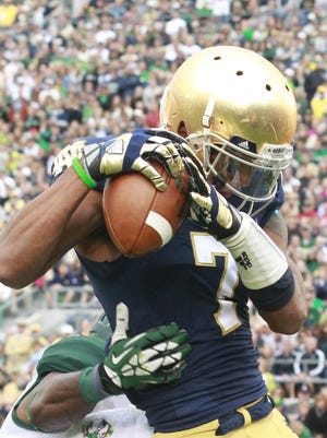 Notre Dame wide receiver T.J. Jones (7) in 2013.