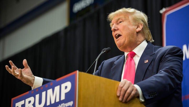 Donald Trump speaks in Portsmouth, N.H., on Feb. 4,