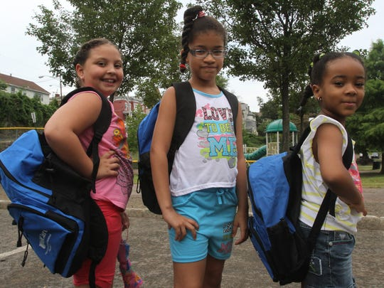 Since 2010, the Haverstraw Holiday Meal Committee has provided new backpacks filled with back-to-school supplies for the village's schoolchildren. The backpacks are handed out at an August barbecue at Emeline Park. One year, they were distributed at a Rockland Boulders game.
