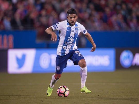 Pachuca forward Franco Jara.