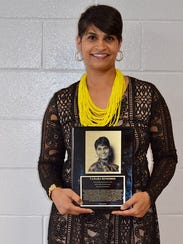 Tamara Remedios was inducted into the Old Bridge High