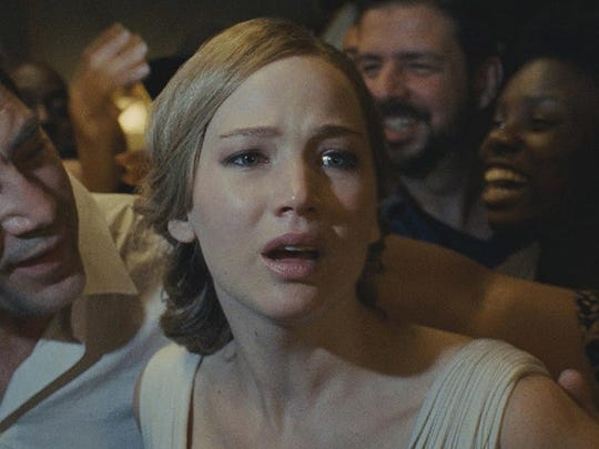 Javier Bardem and Jennifer Lawrence star in mother!