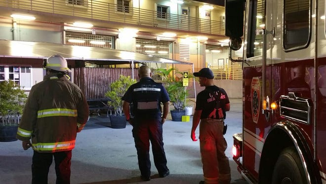 The Guam Fire Department is investigating a fire that began Monday night in Tiyan.