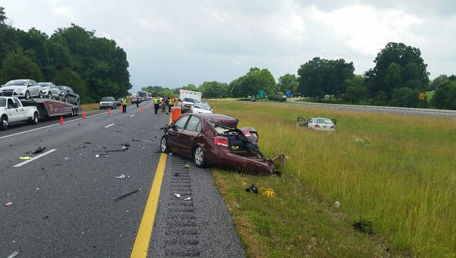 I-24 westbound was closed due to a crash Thursday afternoon.