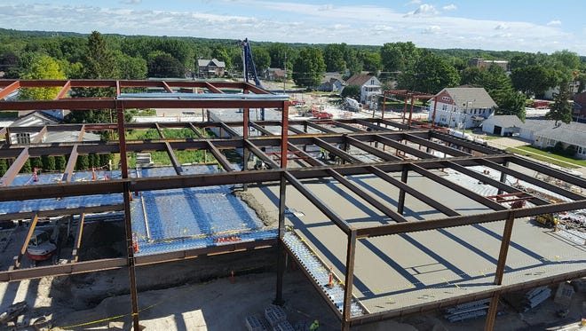 Construction on an addition to Waupun Memorial Hospital is on schedule