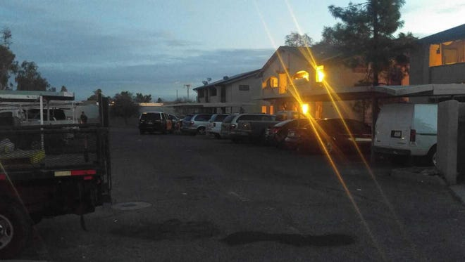 A man was stabbed and killed during an argument in the parking lot of a condominium complex near McKellips Road and Country Club Drive in Mesa on Feb. 7, 2017.