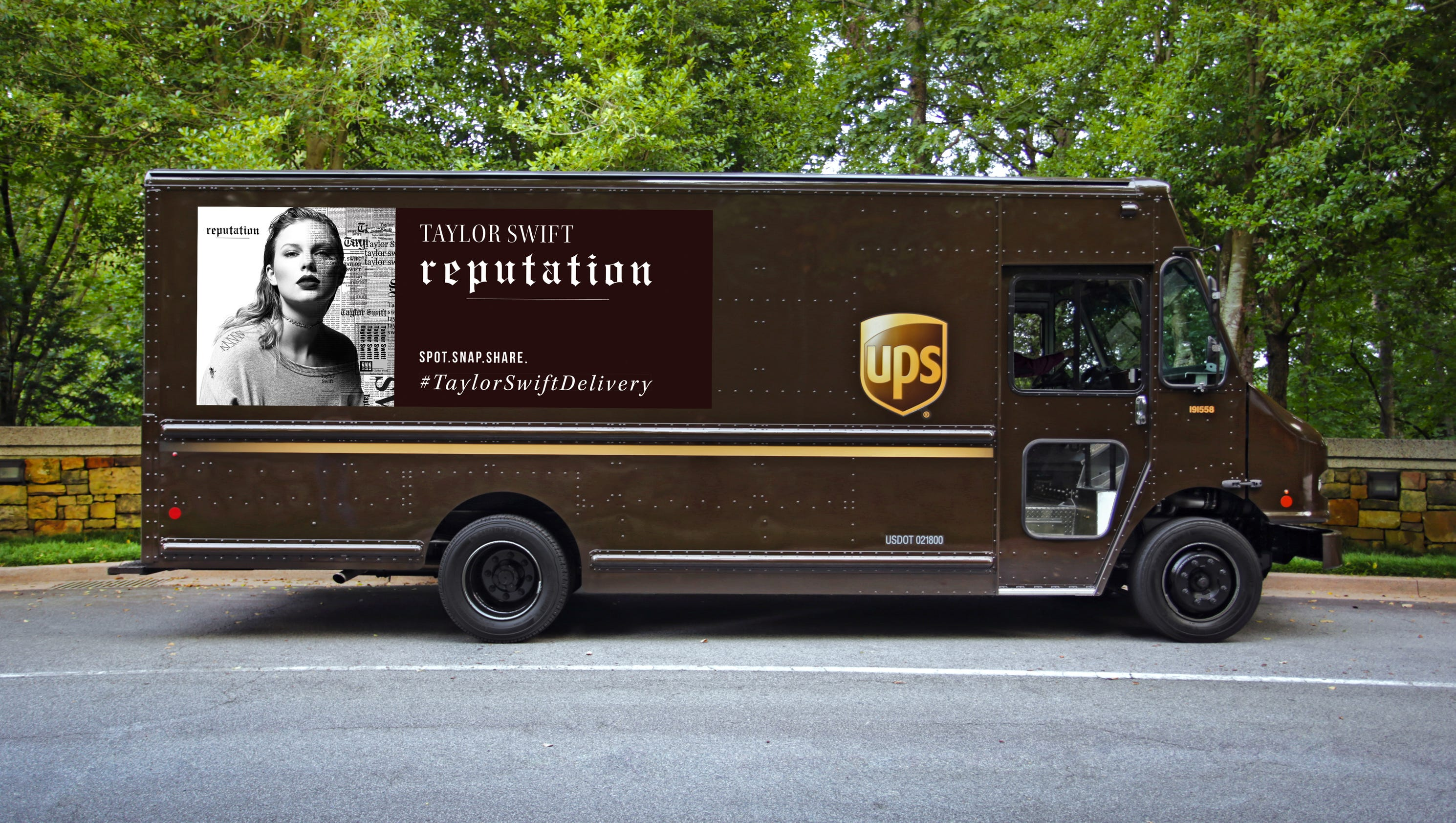 Ups has taylor made trucks for t swifts new album reputation kristyandbryce Images