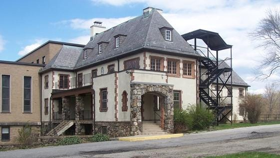 Exterior of Maryknoll building that was sold along with a 25-acre parcel on the missionary order's Somerstown Road site off Route 133 in Ossining.The property was bought by the Bethany Arts Community in a deal that closed in September 2015 and was announced in November 2015. The property came with a $2.75 million price tag, according to county records