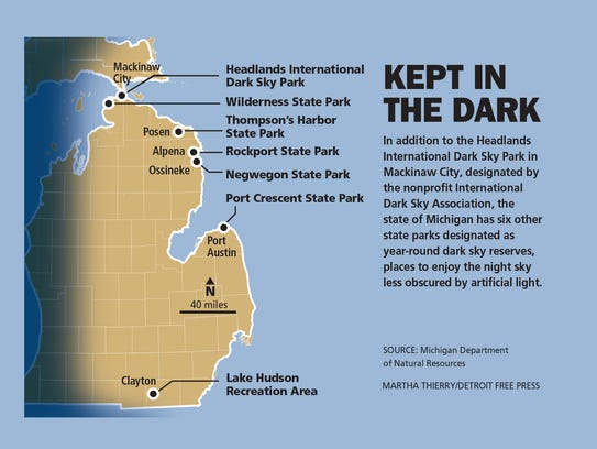 The 7 Best Spots For Stargazing In Michigan: Rockport State Park Map At Codeve.org