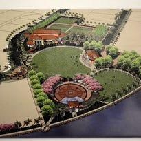 A bird's eye view illustration from 2009 shows a concept for Veterans' Community Park buildout. Marco Island's Parks and Recreation Advisory Committee discussed the 2009 master plan at its Tuesday meeting.