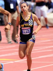 Wylie's Leandra Benton runs during the Class 4A girls 800 meters at the UIL State Track and Field Championships at the University of Texas' Mike A. Myers Stadium in Austin on Saturday. Benton was fifth with a time of 2:21.17.