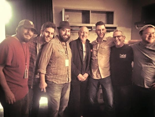 The Hillbenders, pictured with The Who's Pete Townsend,