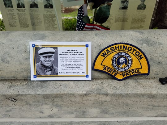 Marcelle Gorman, 96, of Green Brook attended the May 11-17 Police Week in Washington, D.C., to honor her father, Vernon G. Fortin, who was killed in the line of duty in 1923 in the state of Washington.