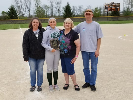 Randolph Southern's Mary Parrett, second from left,