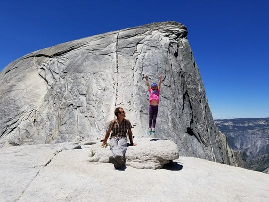 G.W. Miller and family took his 7-year-old daughter, Jane to Half Dome at Yosemite National Park recently.
