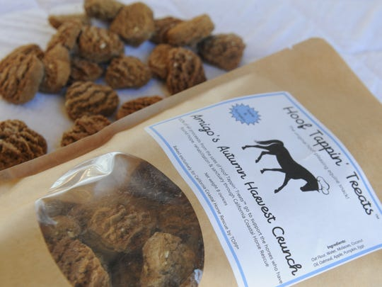 Hoof Tappin' Treats are healthy horse cookies made from ingredients deemed OK for humans to eat, too.