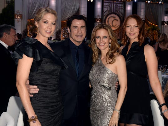 John Travolta, friends party at Scientology gala