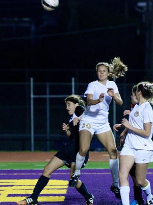 Byrd's Kyra Montes goes for the ball during their quarterfinal win over Fontainebleau Monday evening.