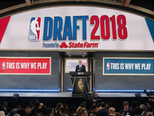 NBA commissioner Adam Silver at the 2018 NBA Draft. (Photo: Brad Penner, USA TODAY).