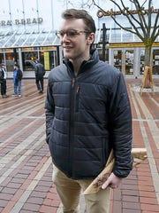 Ryan Nick of Burlington reacts to a pair of proposals