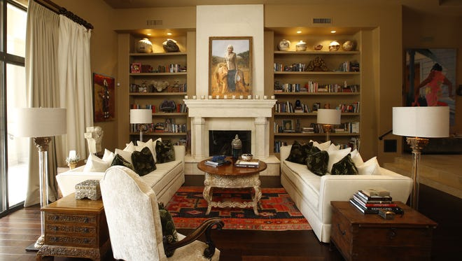 The Flittie home living room in Cheney Estates on Oct. 14, 2015 in Paradise Valley, Ariz.