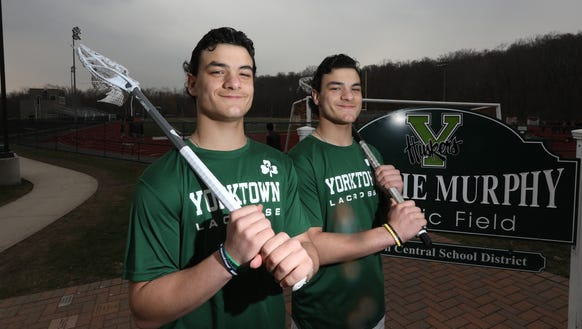 Yorktown lacrosse players and twin brothers Jamison,