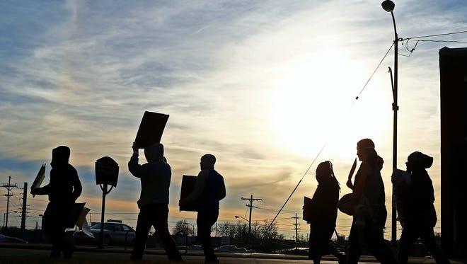 Demonstrators in Springfield