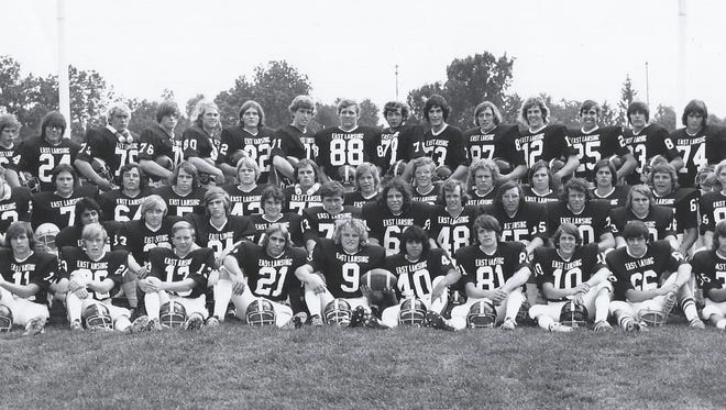 The 1973 East Lansing football team, which is part of this year's Greater Lansing Sports Hall of Fame class, went 9-0 and finished No. 2 in the final Class A state poll.