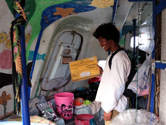 Davonn Phothiboupha stayed in this hurricane pod bought