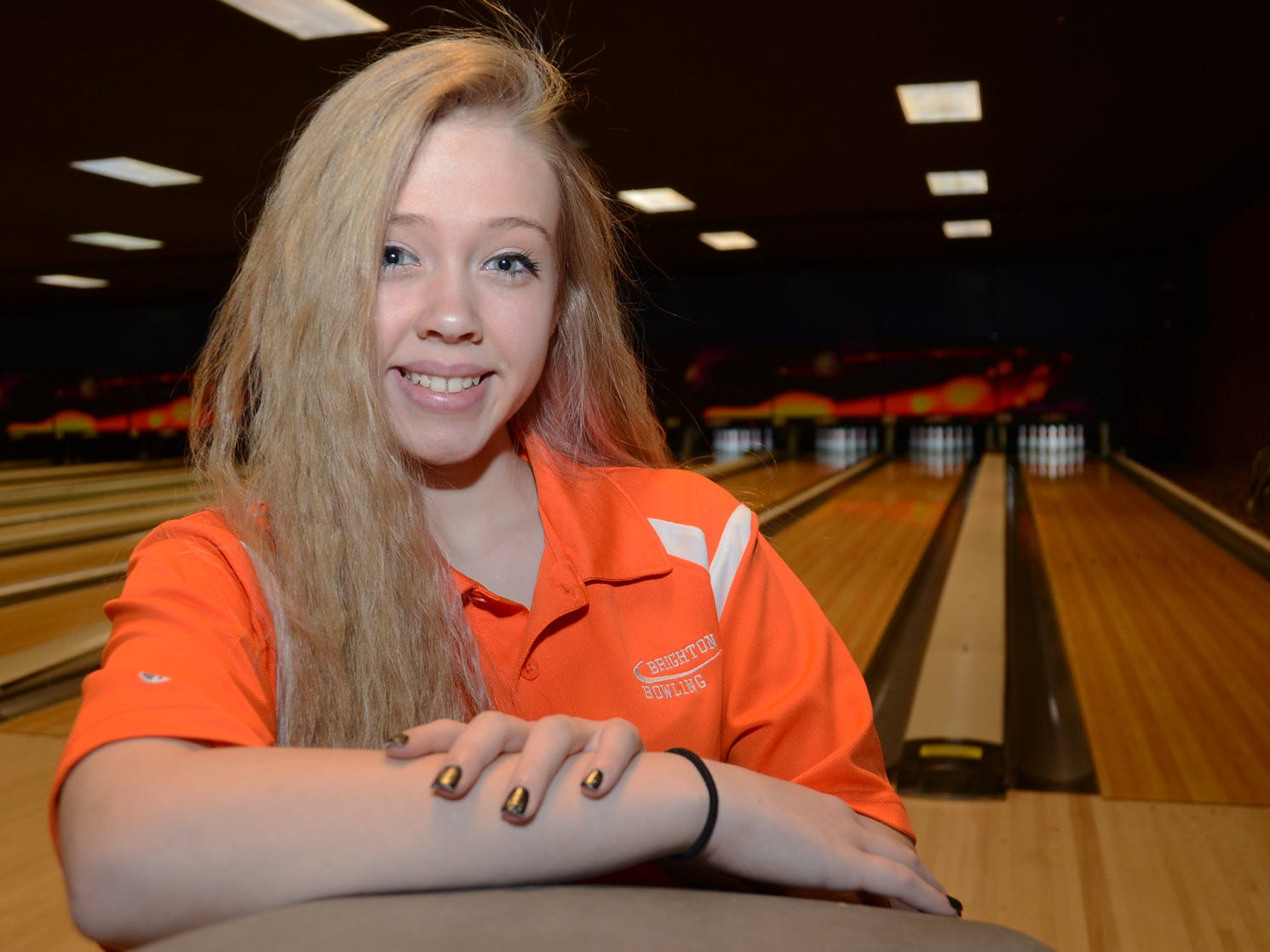 Brighton's Natalie Klein won regionals and placed among the top eight at the Division 1 state finals en route to becoming the All-County Girls Bowler of the Year.