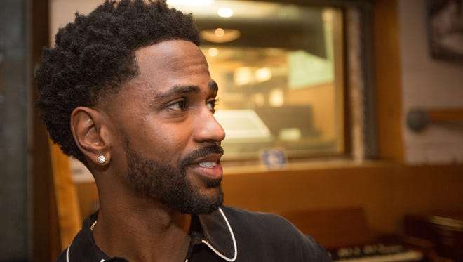 Big Sean speaks in Studio A at the Motown Museum in Detroit on Thursday, June 21, 2018.