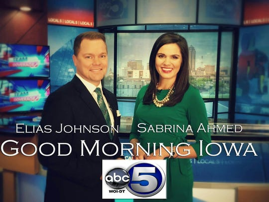 "The station's renamed morning newscast, ""Good Morning Iowa,"" will be anchored by WOI veteran Sabrina Ahmed and and newcomer Elias Johnson."