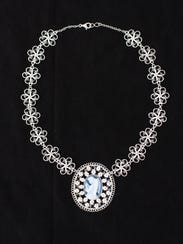The 2011 Spanish Market poster filigree necklace by