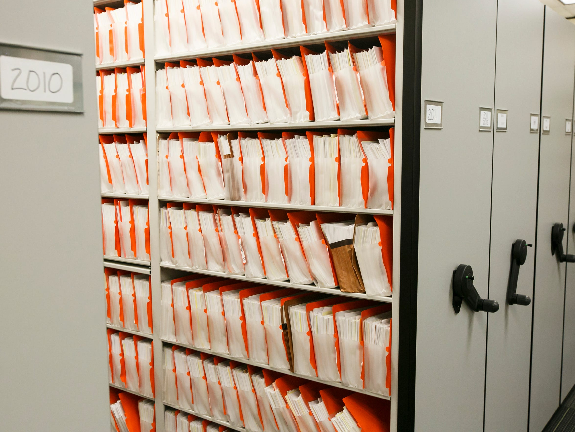 Files stored at the Eugene Police Department. The city