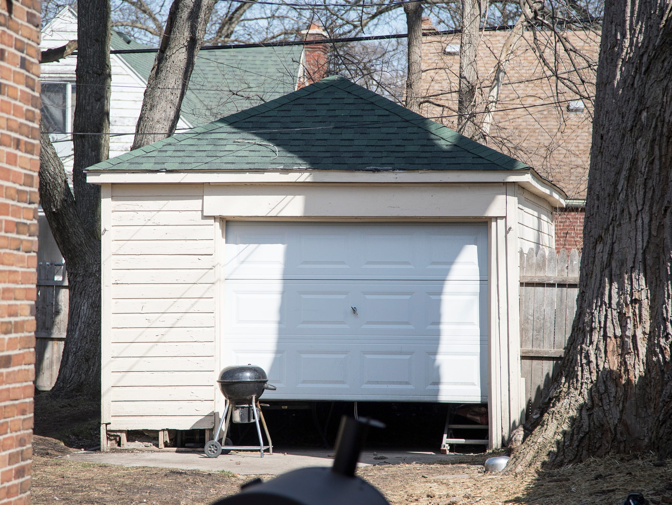 Garage with a brand new door on Robson Street in Detroit