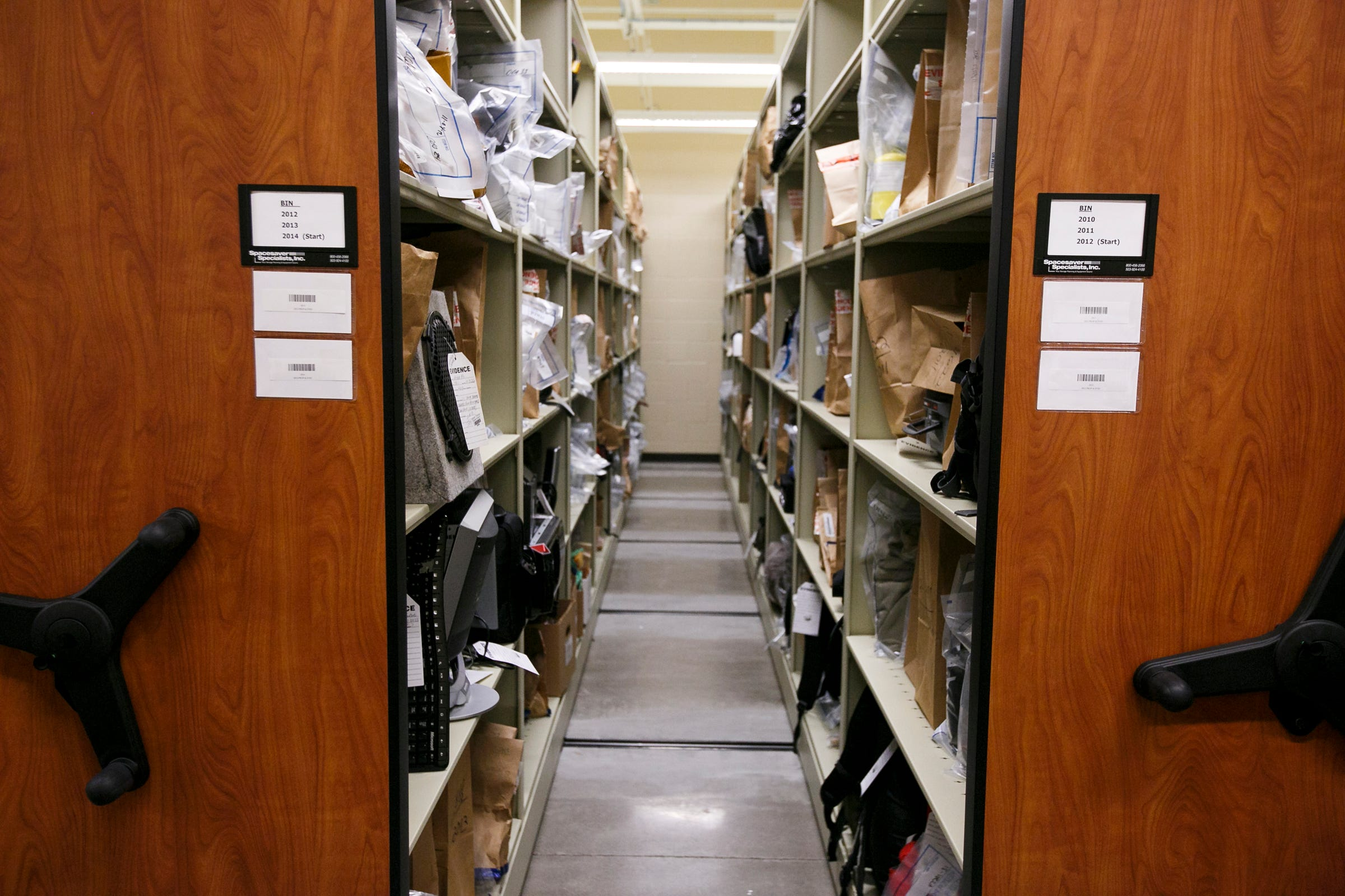 The Evidence Storage Room At The Keizer Police Department,