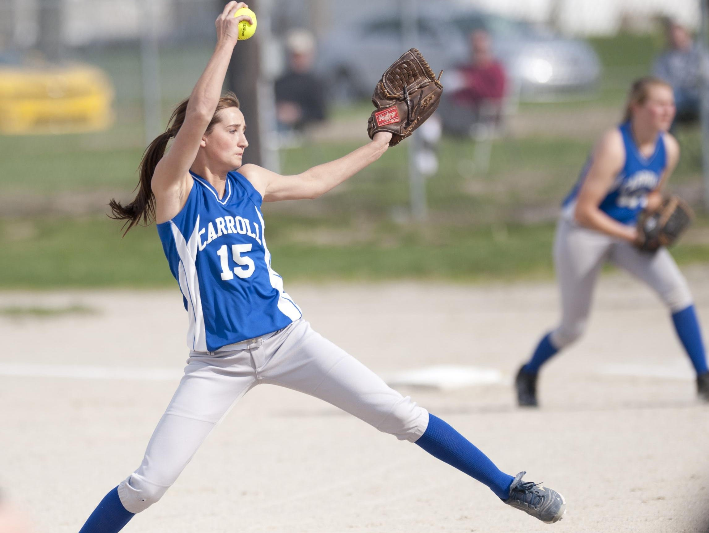 Carroll pitcher Carly Kingery.