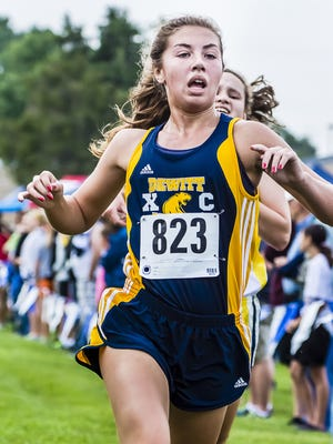 Senior Jordan Lee (823) and her DeWitt teammates will compete in Friday's Spartan Invitational elite race at 5:30 p.m. on MSU's Forest Akers East Golf Course.