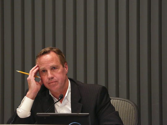 Palm Springs Mayor Steve Pougnet listens to critics