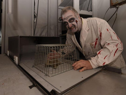 Mad scientist Rick Rankin of Sturgeon Bay and his disappearing mouse were among the frights in 2016 inside the Haunted Mansion at Quietwoods South Camping Resort in Brussels.