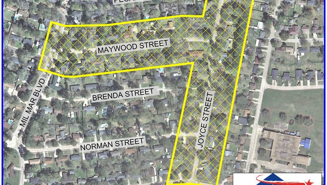 The water boil advisory issued for the area around Maywood and Joyce streets (in yellow outline) has been lifted.