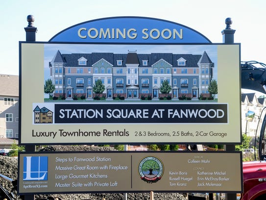 The sign at the site of Station Square at Fanwood.