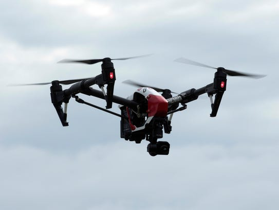 An unmanned aerial vehicle operated by Hover Check