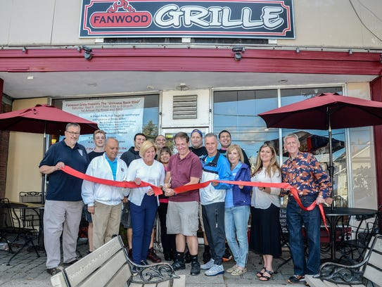 On hand at the ribbon cutting for the Fanwood Grille