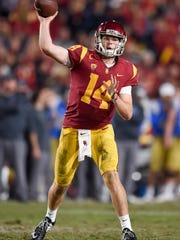 USC quarterback Sam Darnold looks to orchestra a second