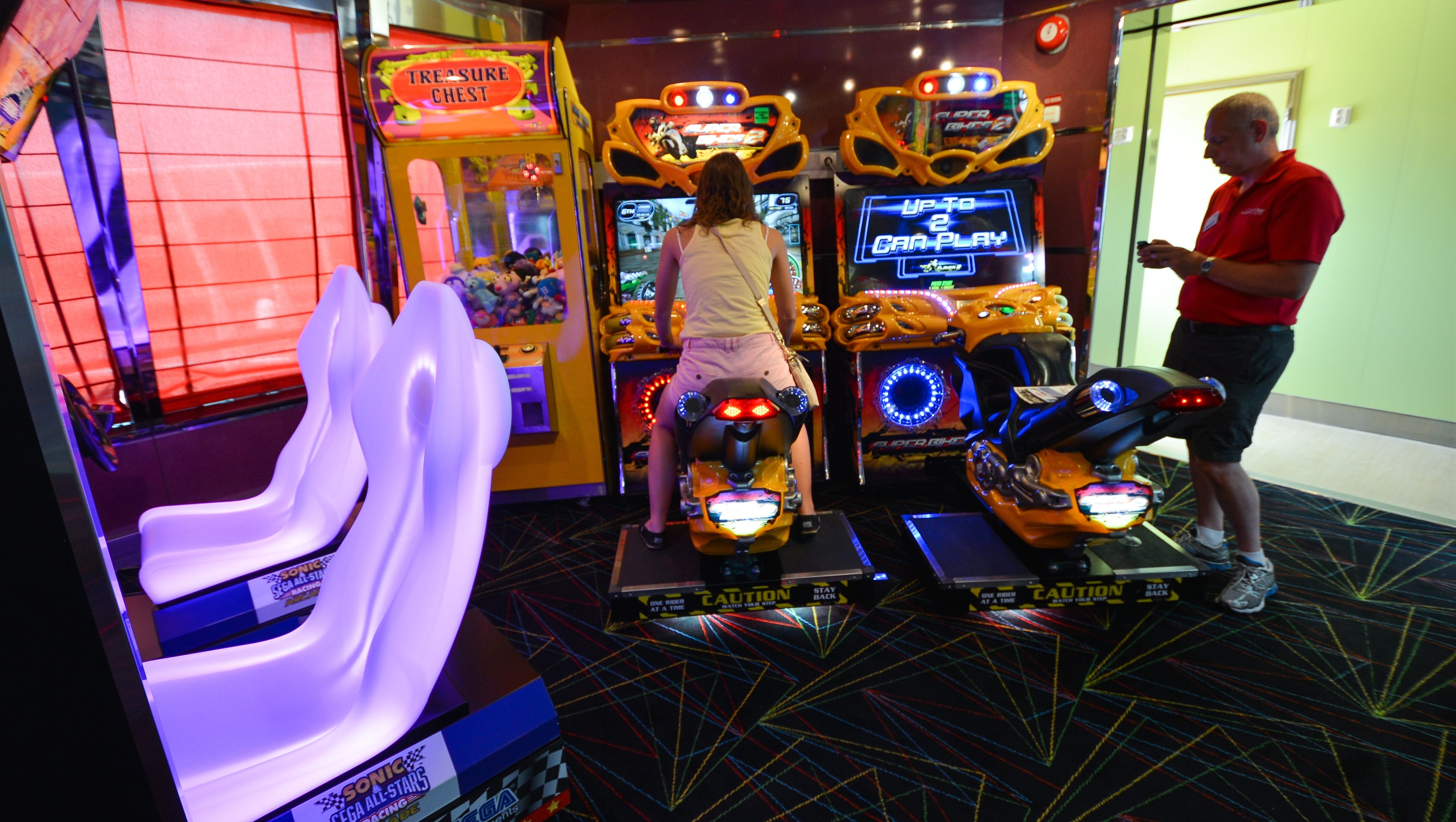 Also on Deck 10 near Adventure Ocean is an arcade with games available at an extra charge.